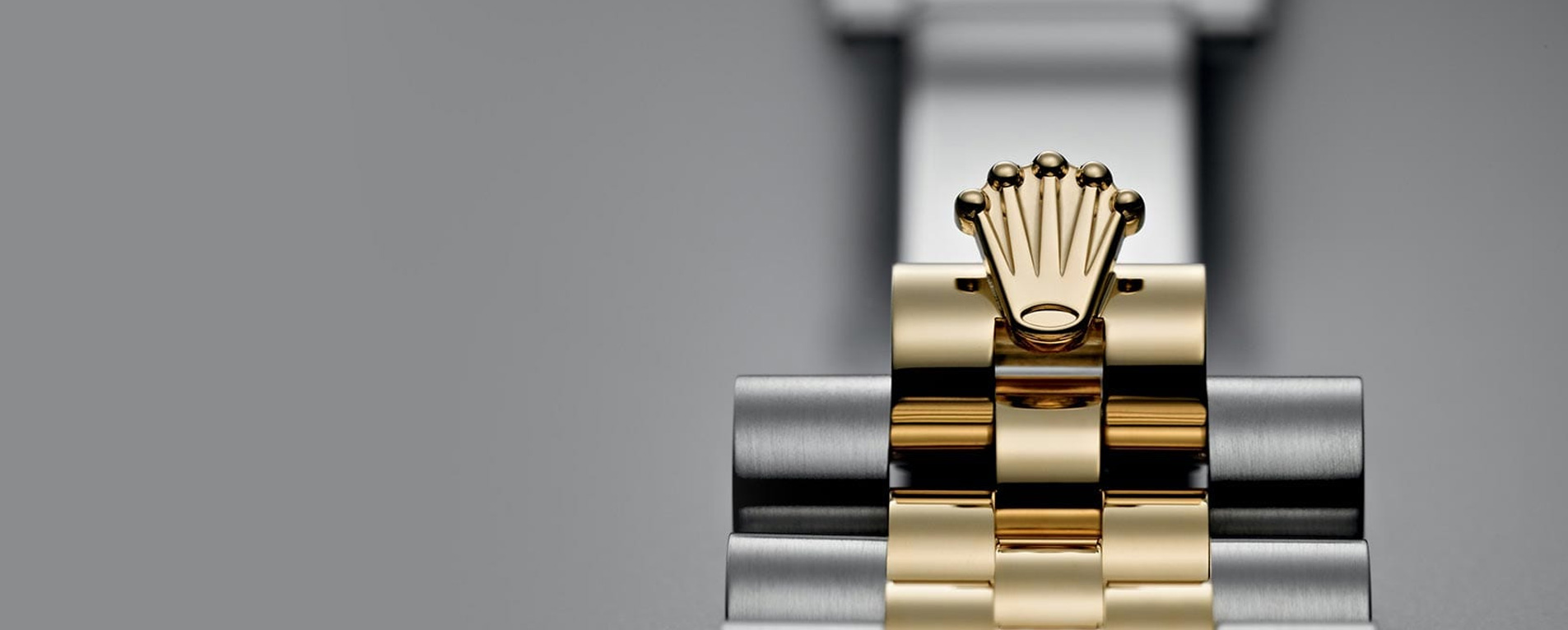 Rolex Oyster Bracelets Repair on gray background